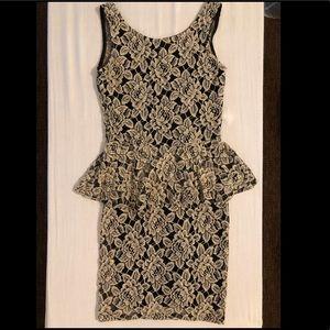 Dresses & Skirts - Vintage Lace Peplum Mini Dress